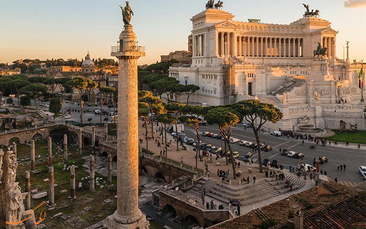 آشنایی با ستون باستانی تراجان رم ایتالیا