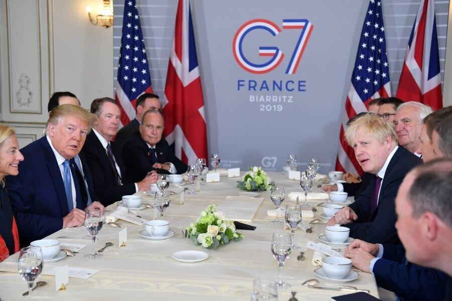 درخواست ترامپ از بوریس جانسون در حاشیه اجلاس جی7