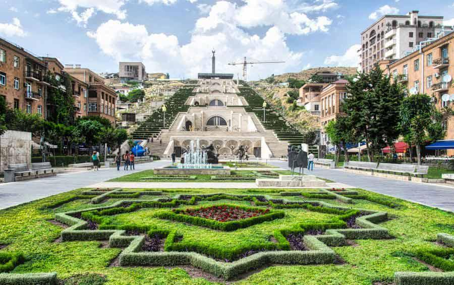 کاسکاد ایروان دیدنی های ارمنستان