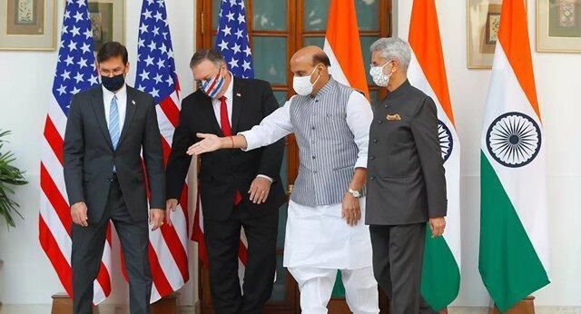 کوشش پمپئو بر وادار کردن هند به عداوت با چین