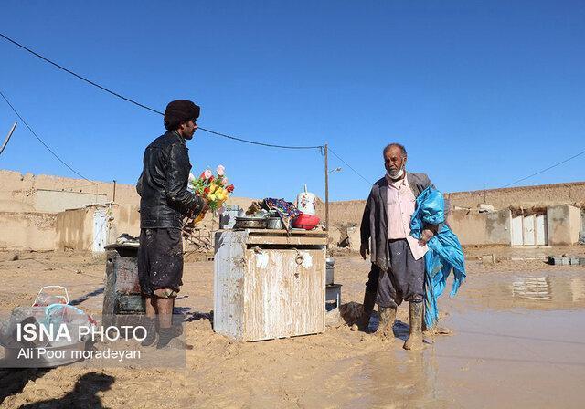 خسارات&zwnj سیل در روستای فیروزآباد ابرکوه