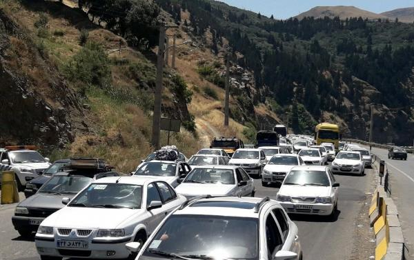خبرنگاران رییس پلیس راه : ترافیک جاده تفت به شهر یزد سنگین است