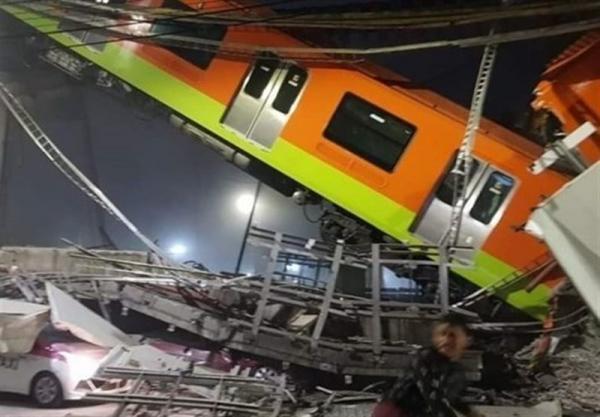 حادثه ریزش پل قطار شهری در مکزیکوسیتی با 15 کشته و ده ها زخمی