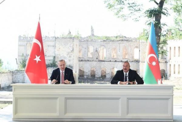 پیشنهاد اردوغان برای همکاری با ایران و روسیه در بازسازی قره باغ